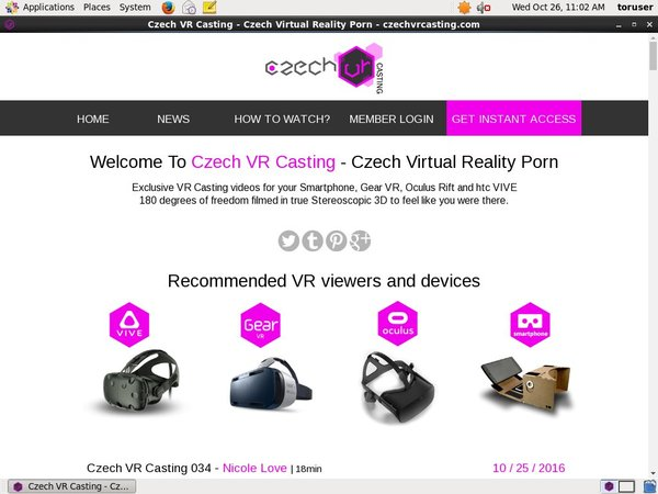 Czechvrcasting.com With Online Check